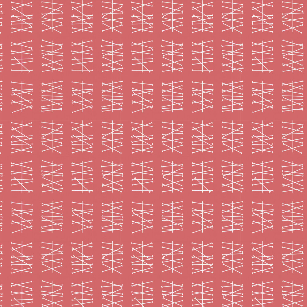 Crossed Lines  Wallpaper - Ruby Red - by Layla Faye