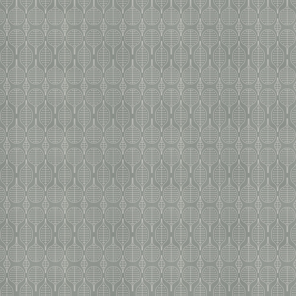 Little Leaves  Wallpaper - Gainsborough Grey - by Layla Faye