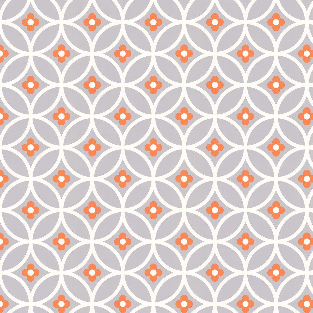 Layla Faye Daisy Chain Large  Orange Surprise Wallpaper - Product code: LF1010
