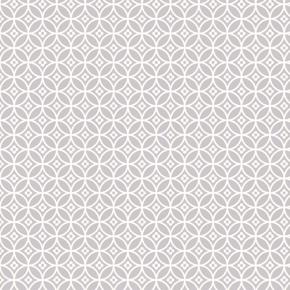 Daisy Chain Small  Wallpaper - Silver Moon - by Layla Faye