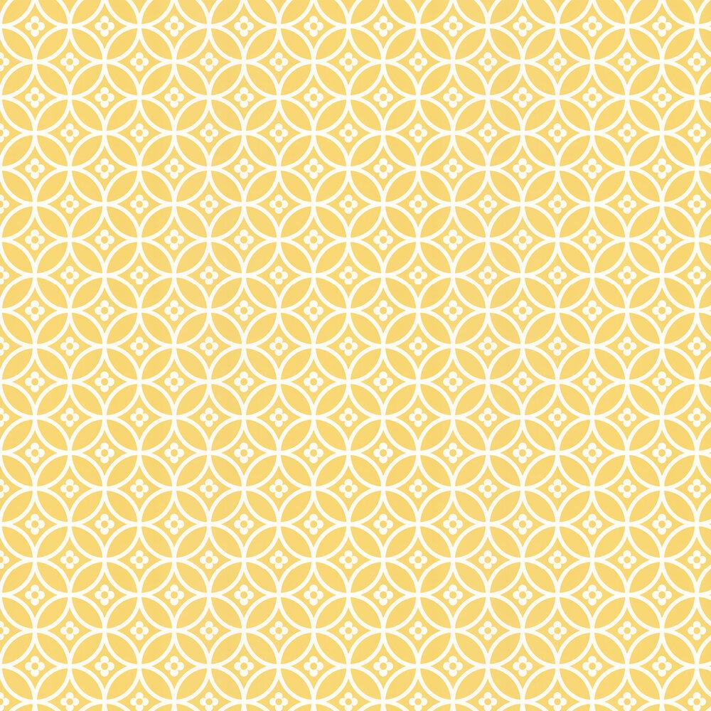 Layla Faye Daisy Chain Small  Yellow Mellow Wallpaper - Product code: LF1013