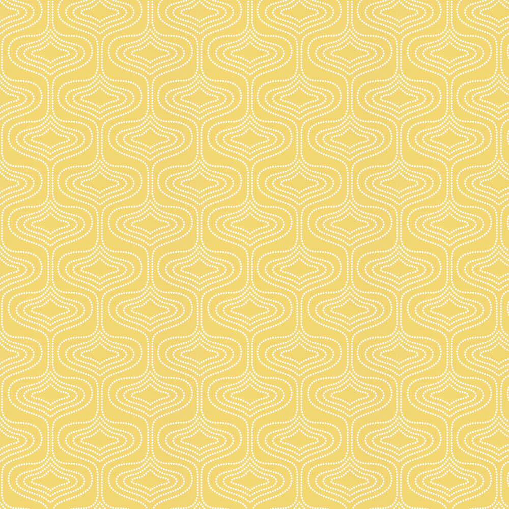 Layla Faye Whistle Dots  Meadow Mustard Wallpaper - Product code: LF1001