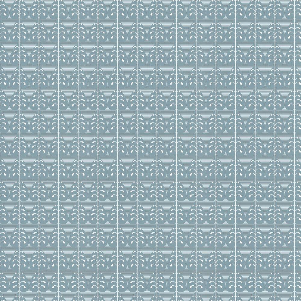 Layla Faye Golden Leaf  Sea Green Wallpaper - Product code: LF1038