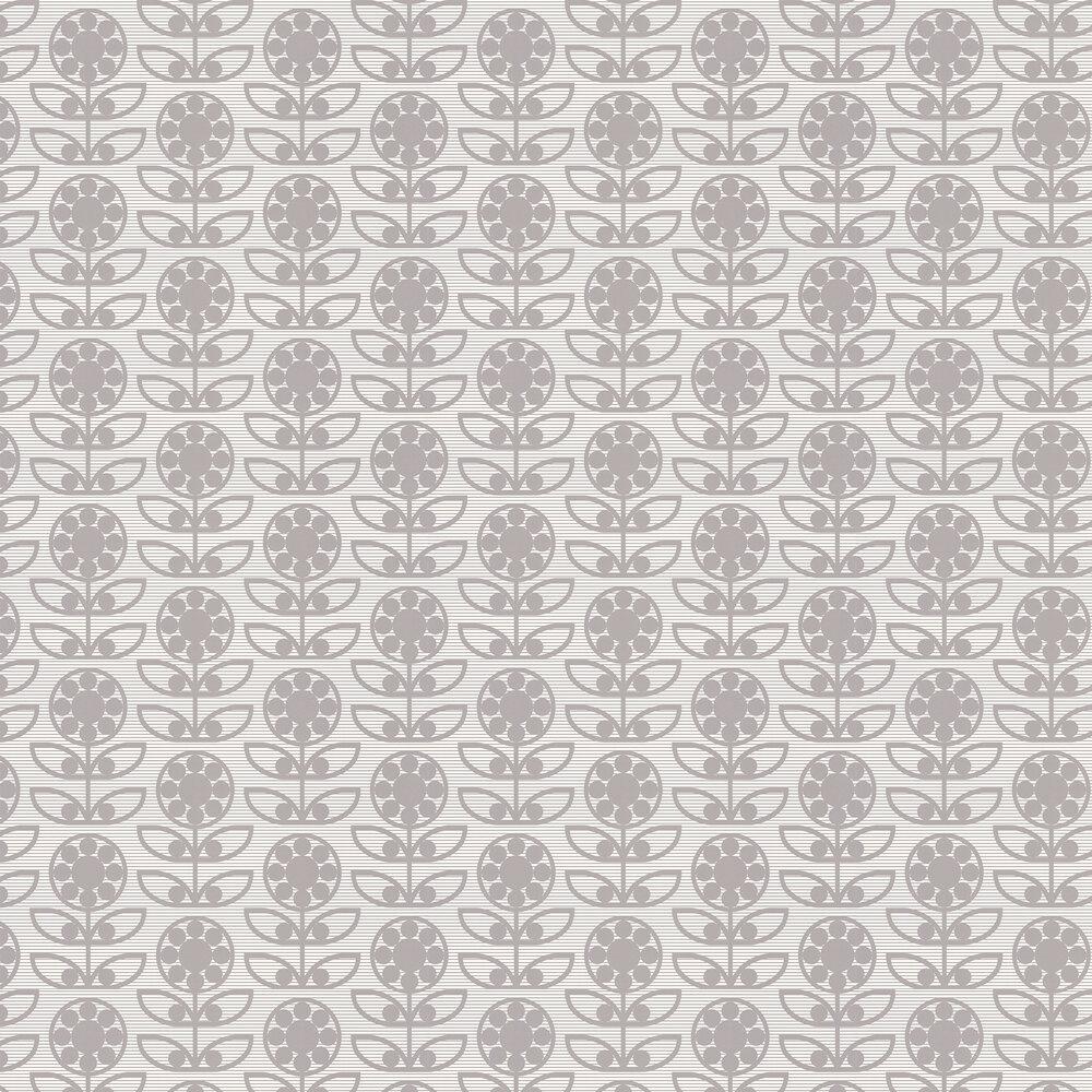Layla Faye Dotty Flower  Swirly Grey Wallpaper - Product code: LF1030