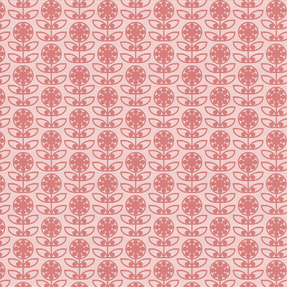 Dotty Flower  Wallpaper - Berry Berry - by Layla Faye