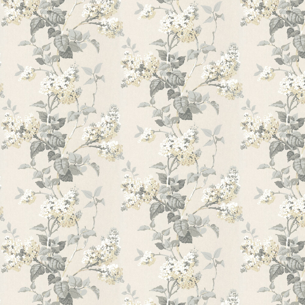 Lilac Blossom Wallpaper - Dove / Ivory - by G P & J Baker