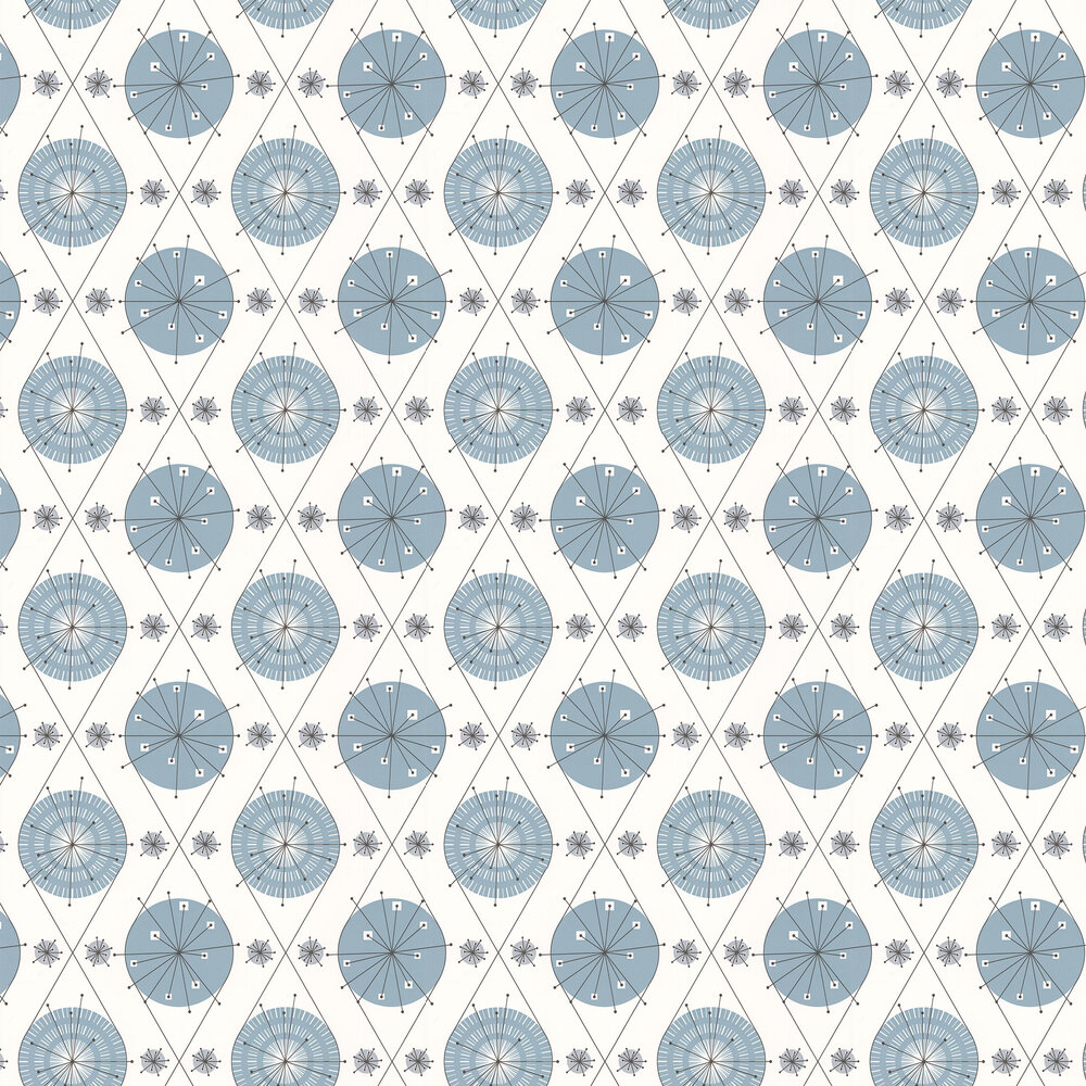 Layla Faye Botanical Bursts  Cornflower Blue Wallpaper - Product code: LF1003