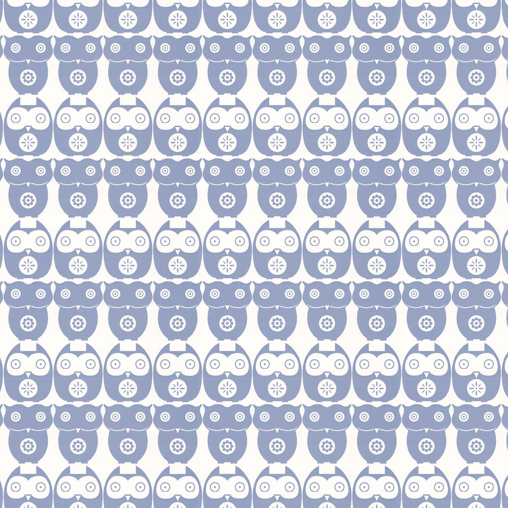 Owls  Wallpaper - Powder Blue - by Layla Faye