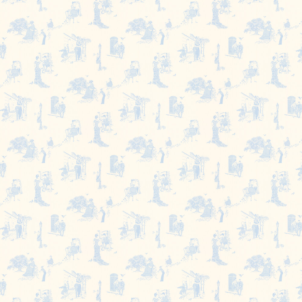 Barneby Gates Promenade Wedgwood Blue Wallpaper - Product code: BG0200201