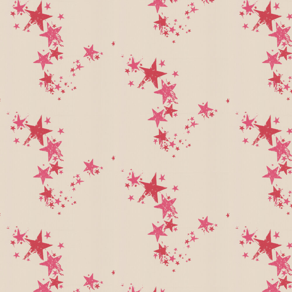 All Star Wallpaper - Red / Off White - by Barneby Gates