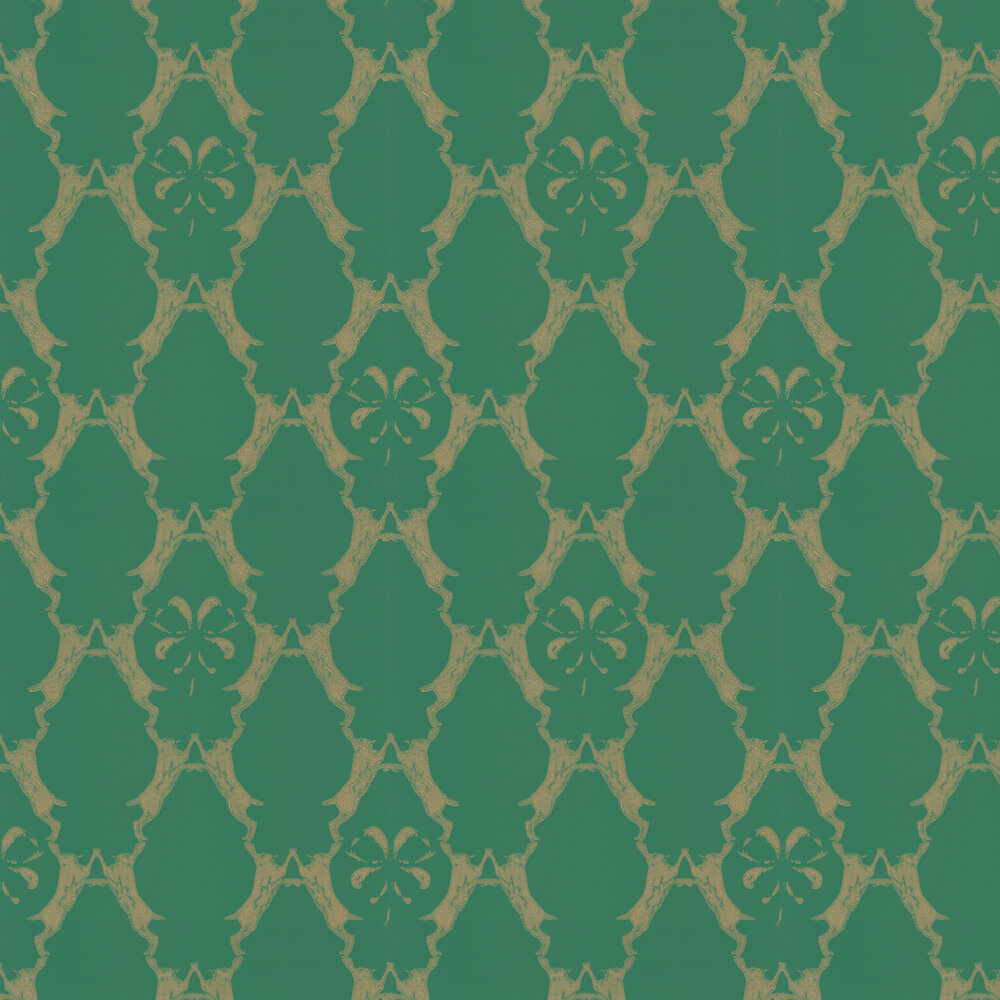 Barneby Gates Boxing Hares Billiard Green Wallpaper - Product code: BG0400101