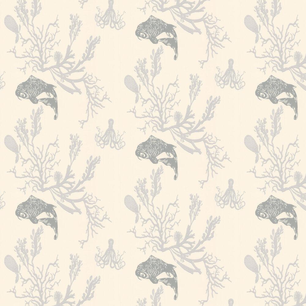 Barneby Gates Coral Pale Grey/Silver Pale Grey / Silver Wallpaper - Product code: BG0900202
