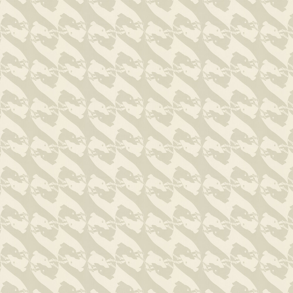 Barneby Gates The Dogs Pale Grey Wallpaper - Product code: BG0800102