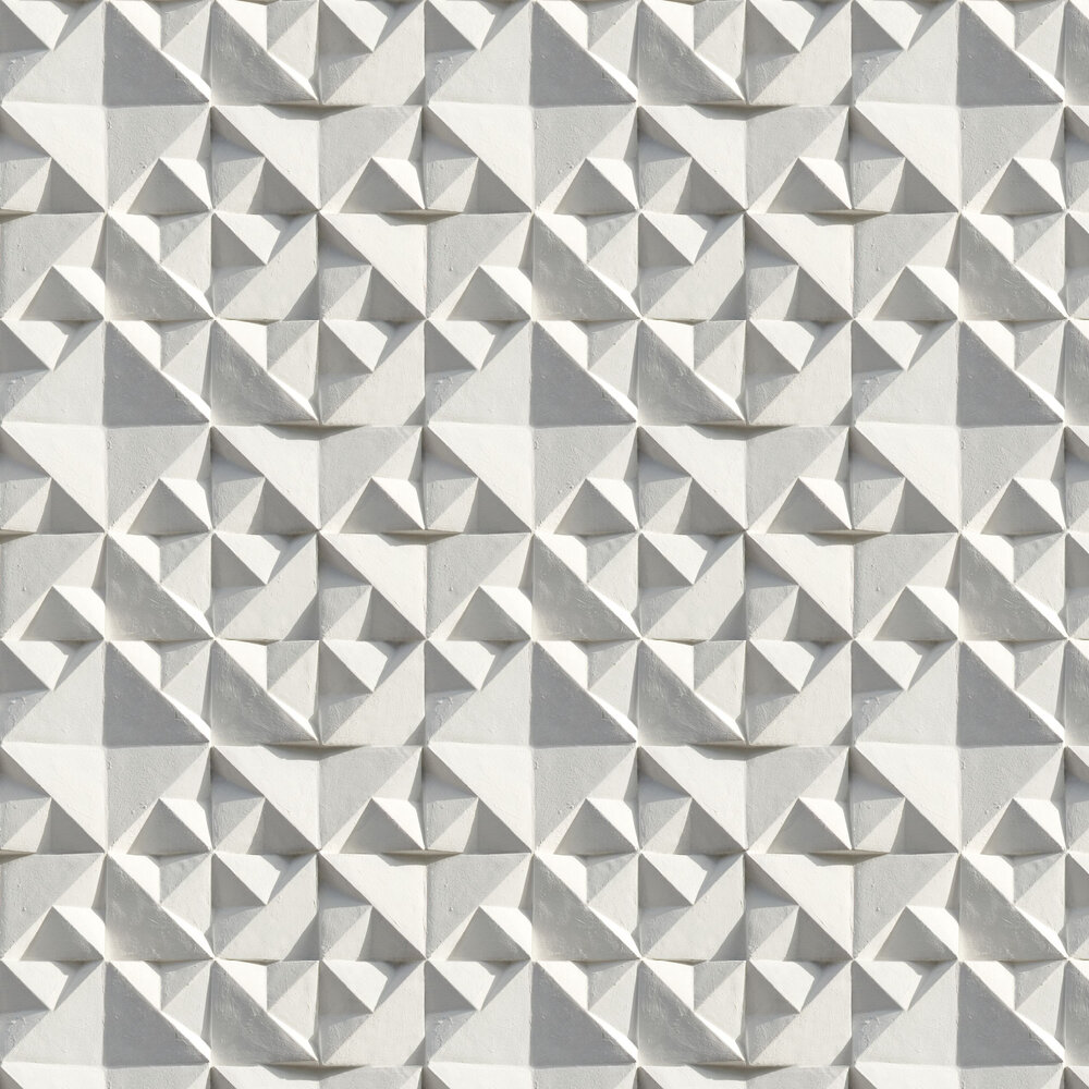 Geo Wallpaper - Grey / White - by Ella Doran
