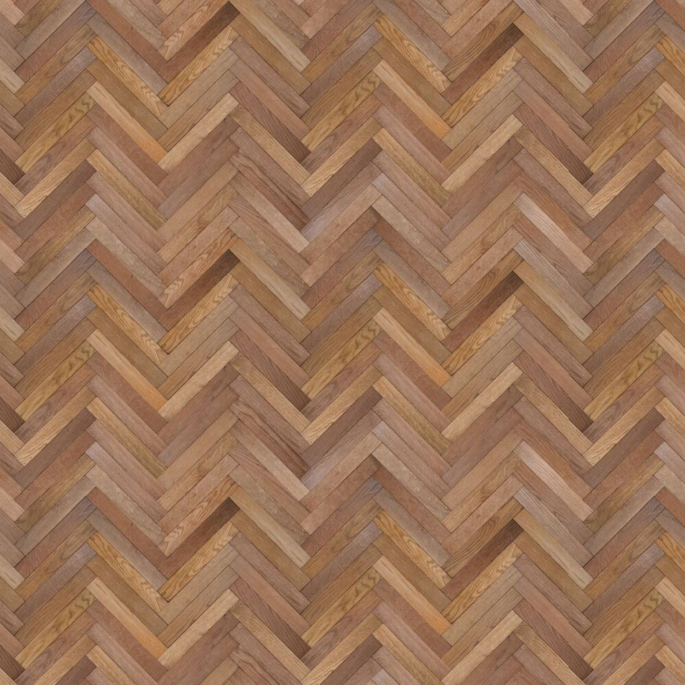 Parquet Inspired by Andrew Stafford Wallpaper - Brown - by Ella Doran