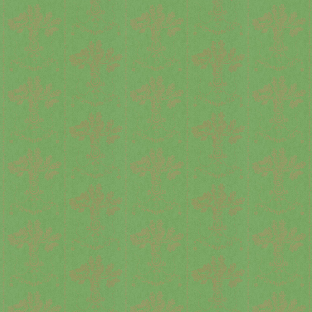 Barneby Gates Lucky Charms Georgian Green Wallpaper - Product code: BG0600102