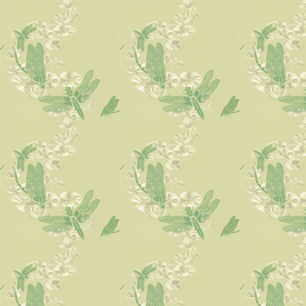 Dragonfly Apple Green Wallpaper - by Barneby Gates
