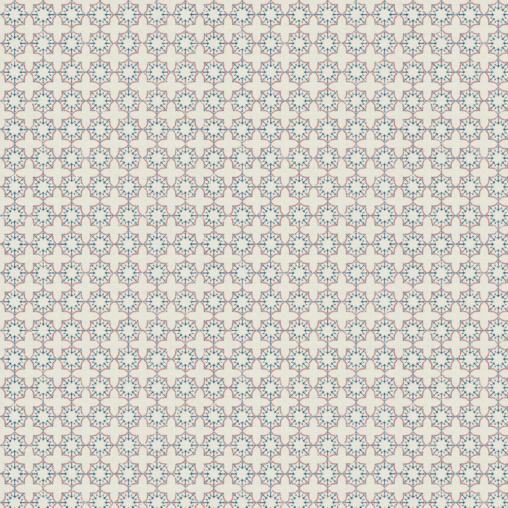 Anchor Tile Red/ White/ Blue Wallpaper - Red / White / Blue - by Barneby Gates