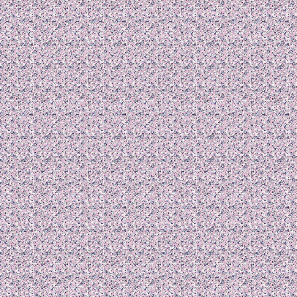 Free to Fly Wallpaper - Pink - by Hattie Lloyd