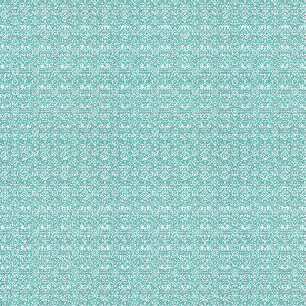 Kensington Chic Wallpaper - Turquoise - by Hattie Lloyd