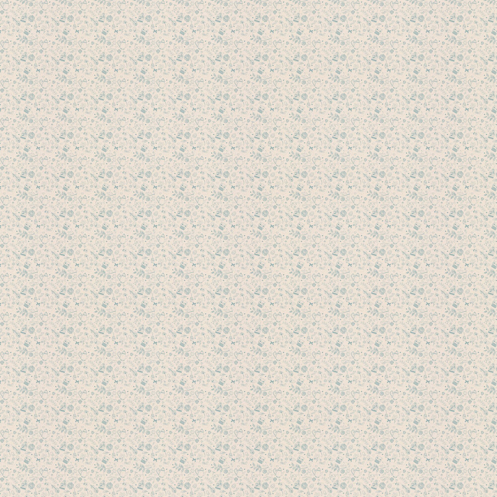 Hattie Lloyd Tea at Hatties Cream Wallpaper - Product code: HLTAH03