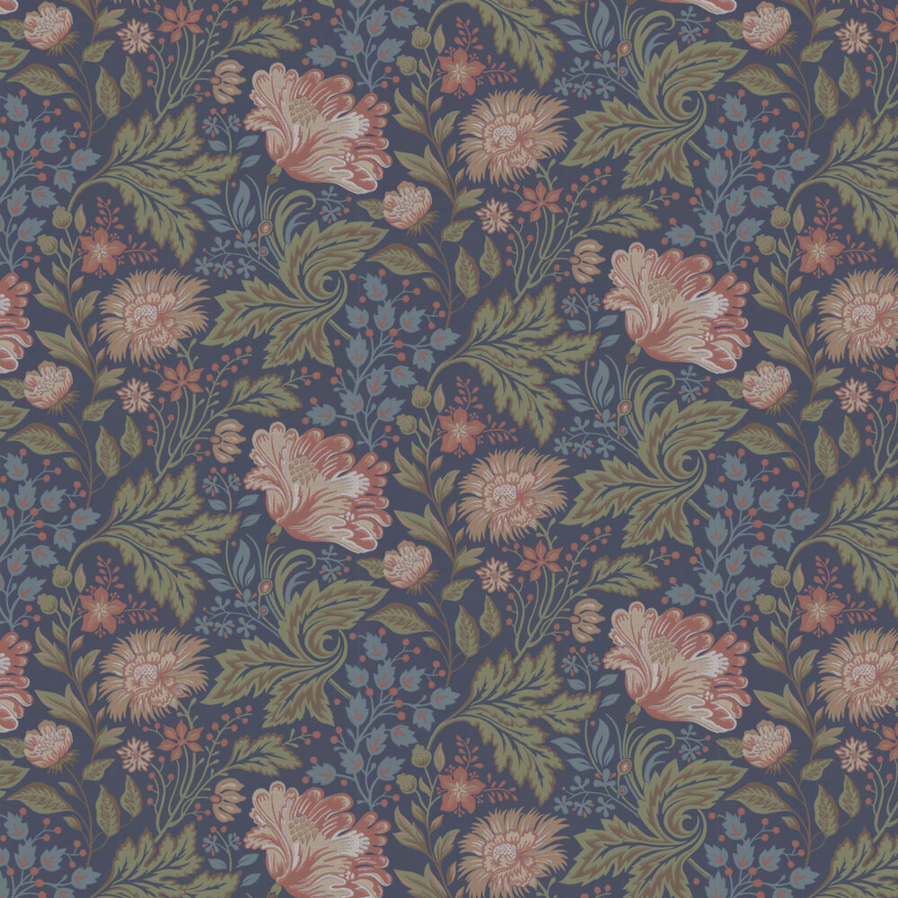 Sandberg Ava Autumn Dark Blue Wallpaper - Product code: 400-86