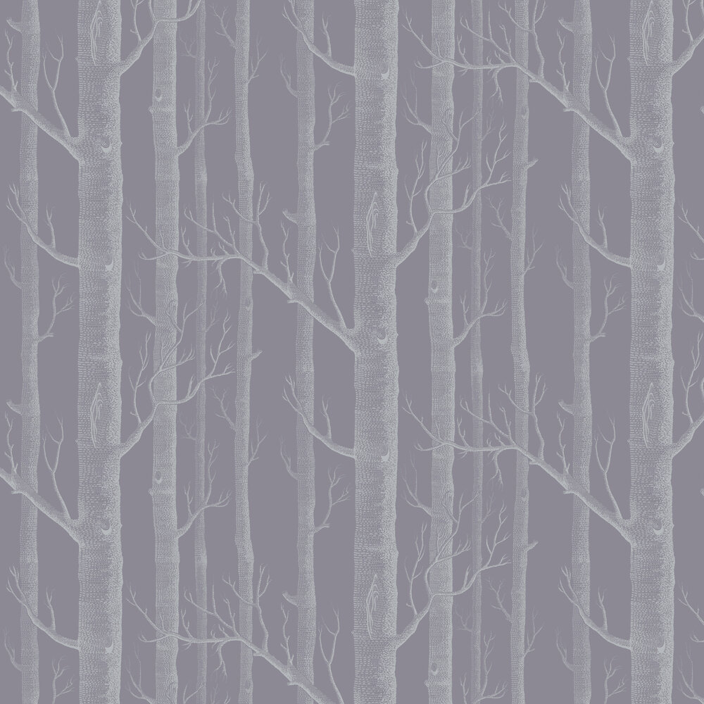 Woods Wallpaper - Lilac / Charcoal - by Cole & Son