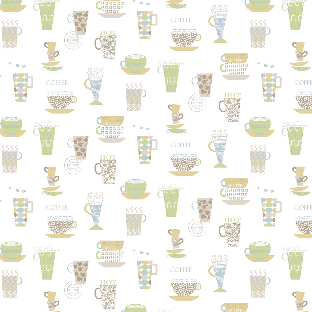Galerie Coffee Morning  White Wallpaper - Product code: FK34426