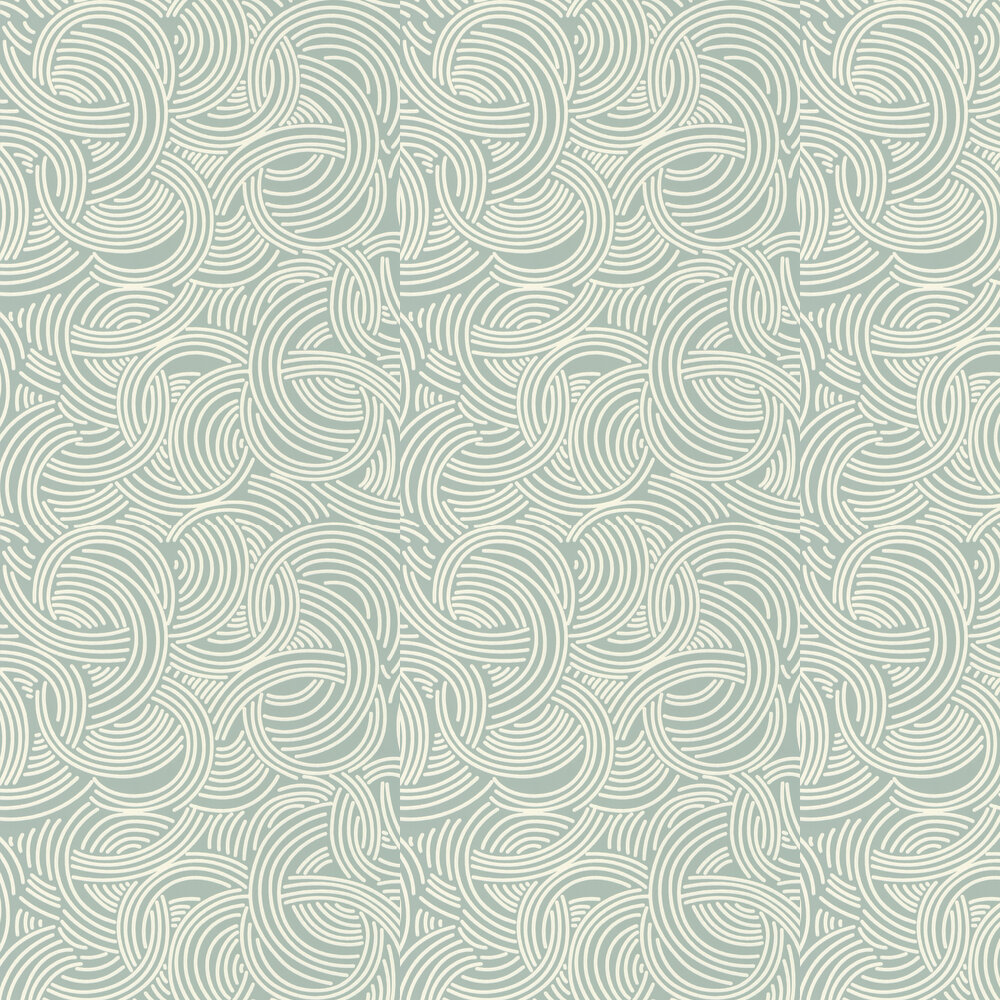 Farrow & Ball Tourbillon Aqua Wallpaper - Product code: BP 4805