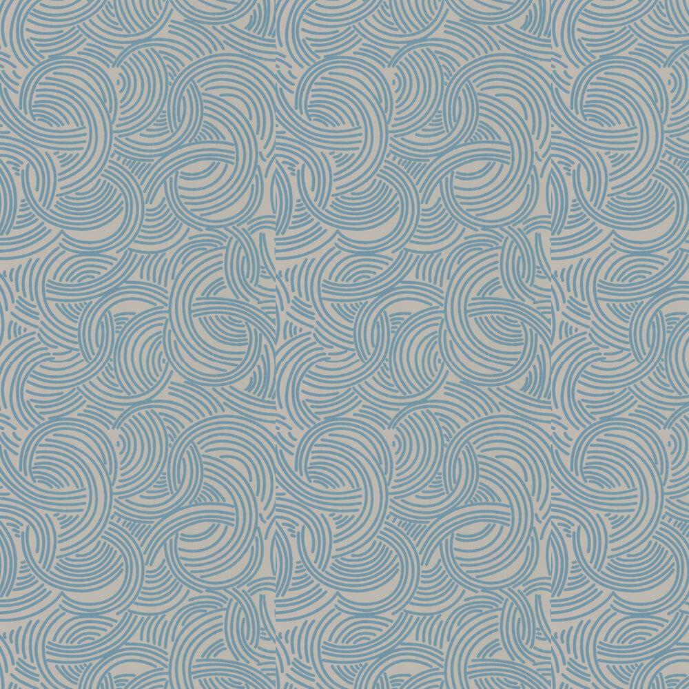 Farrow & Ball Tourbillon Grey and Blue Wallpaper - Product code: BP 4806