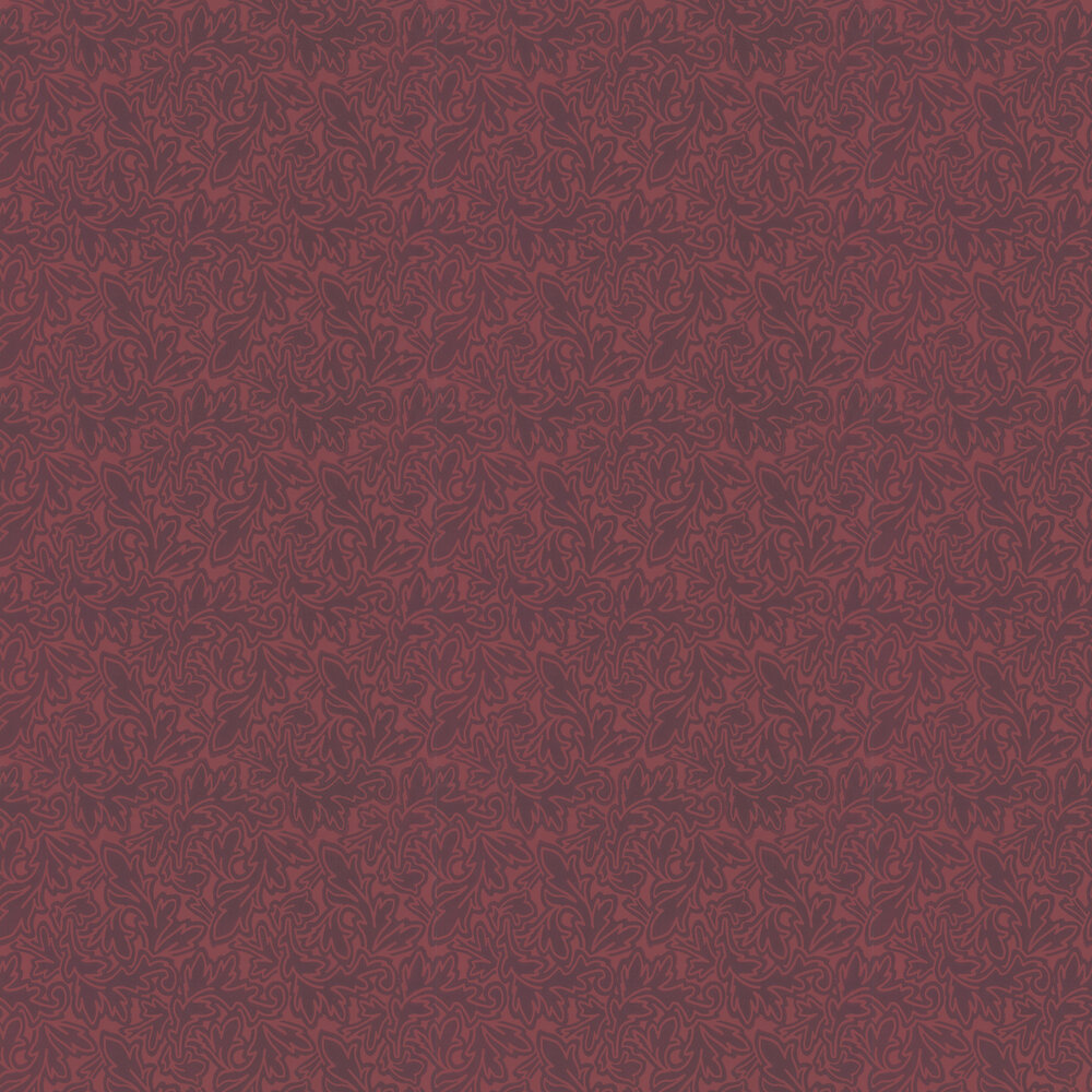 Farrow & Ball Feuille Red Berry  Wallpaper - Product code: BP 4904