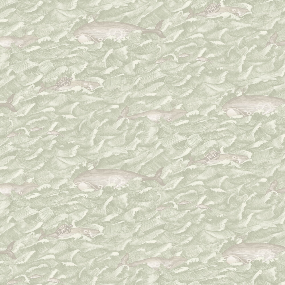 Melville Wallpaper - Green - by Cole & Son