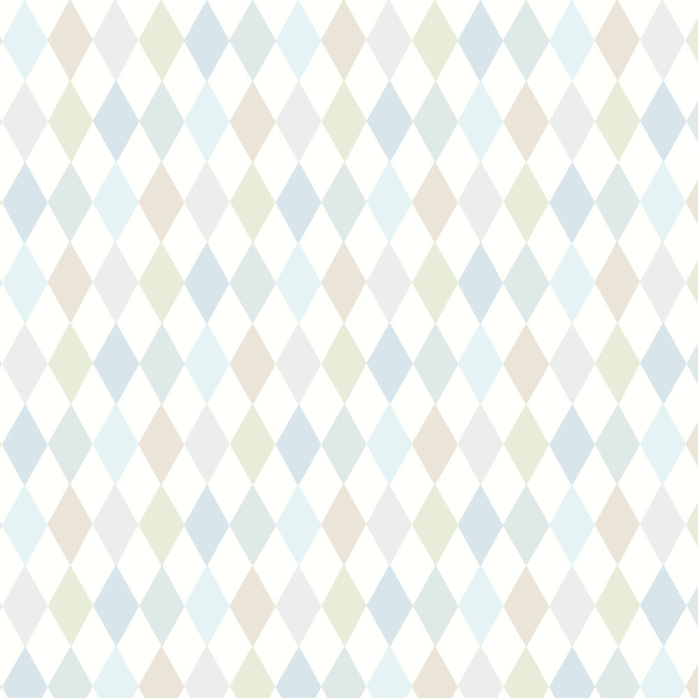 Punchinello Wallpaper - Soft Blue - by Cole & Son