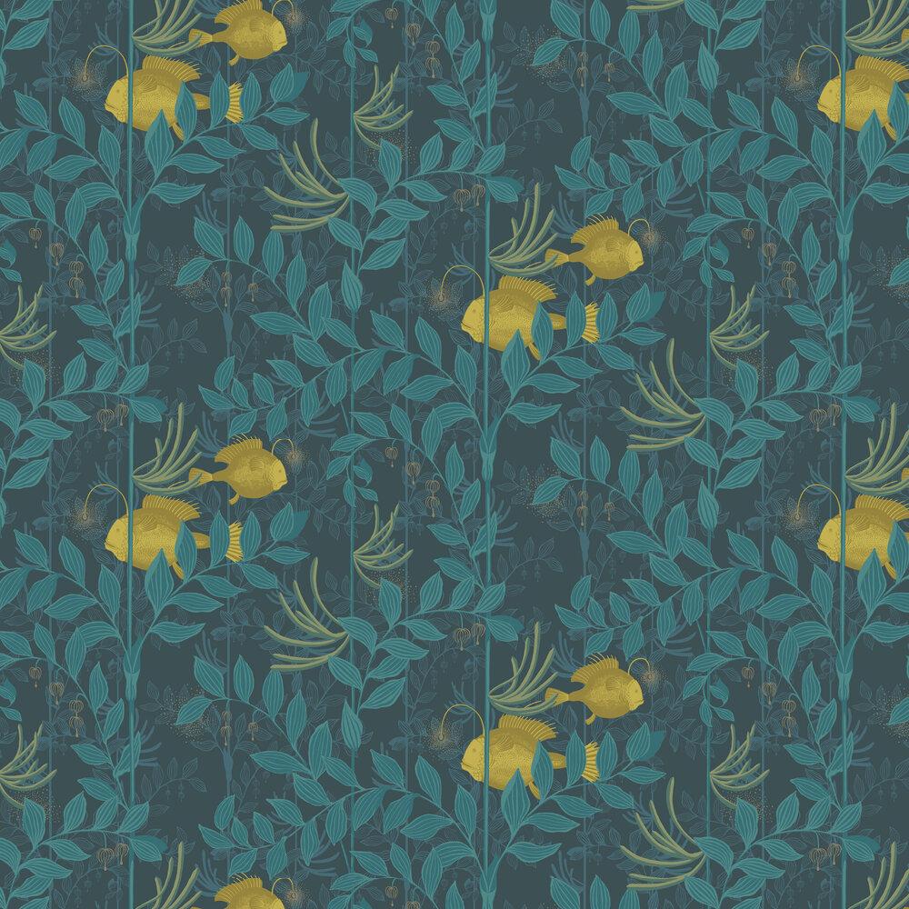 Nautilus Wallpaper - Dark Blue - by Cole & Son