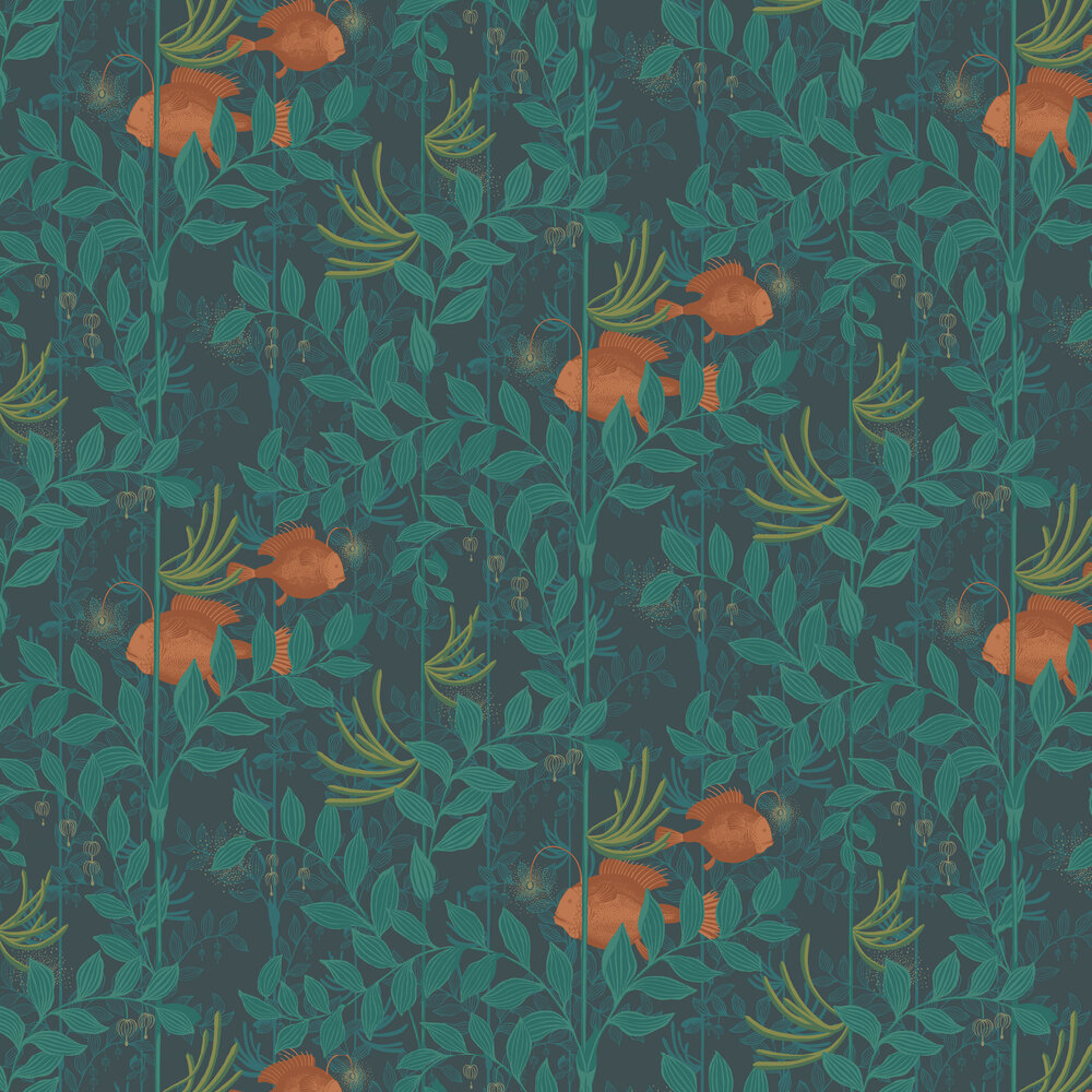 Nautilus By Cole Son Dark Green Wallpaper Wallpaper Direct
