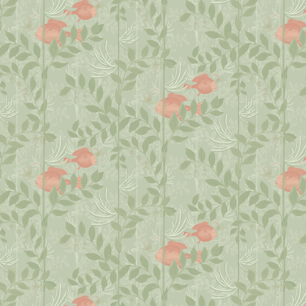 Cole & Son Nautilus Soft Green Wallpaper - Product code: 103/4020