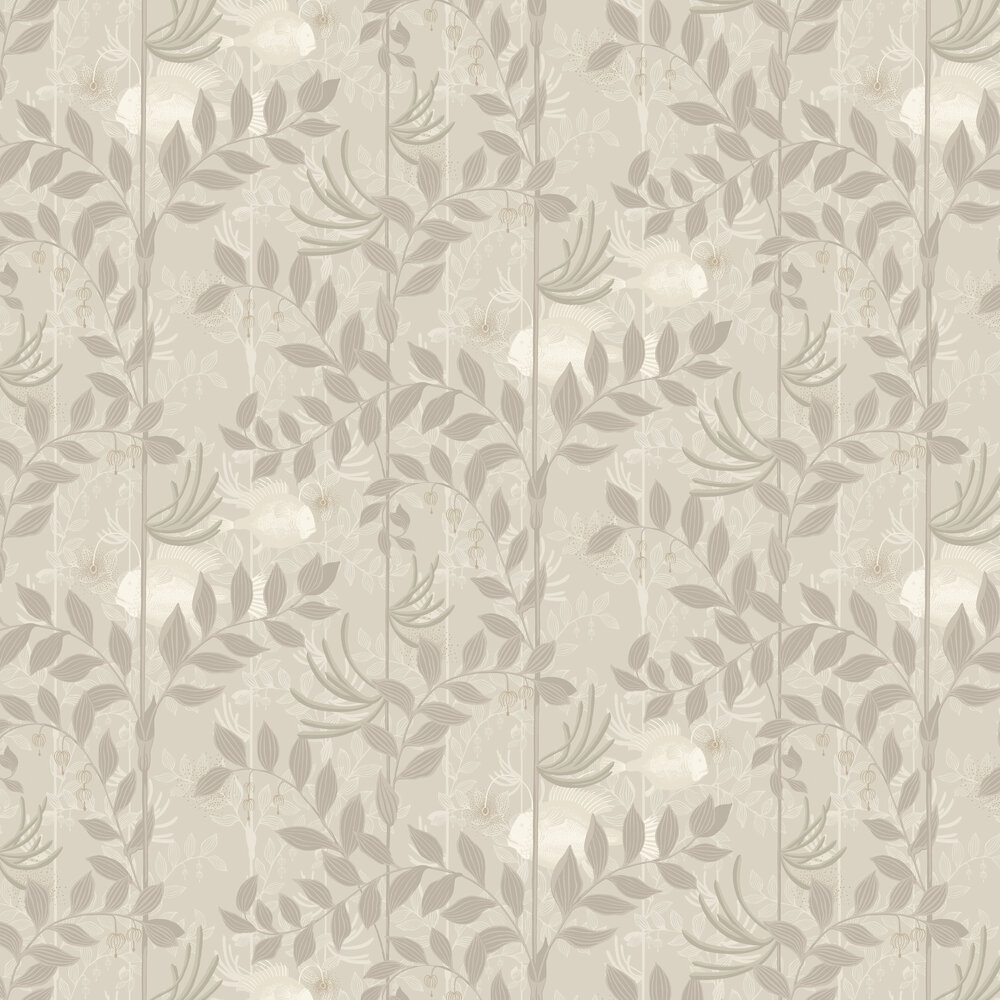 Cole & Son Nautilus Neutral and Gilver Wallpaper - Product code: 103/4021