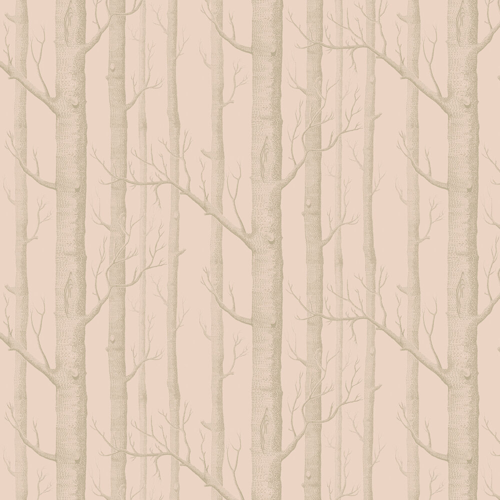 Cole & Son Woods Pink and Gilver Wallpaper - Product code: 103/5024