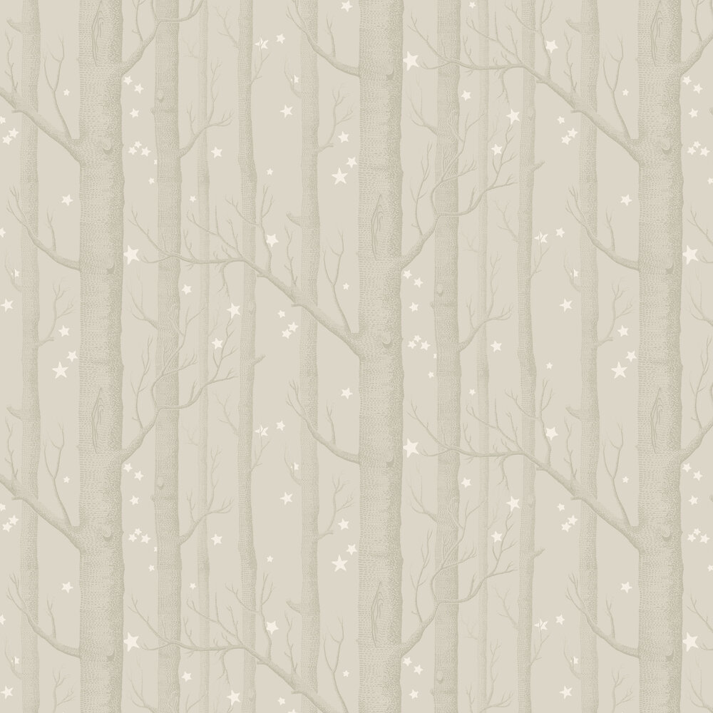 Woods and Stars Wallpaper - Grey - by Cole & Son