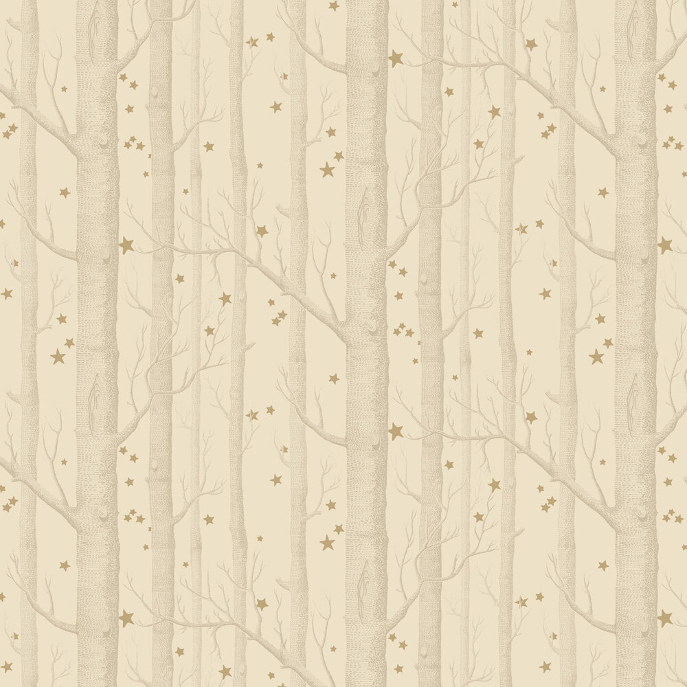 Woods and Stars Wallpaper - Buff & Gold - by Cole & Son
