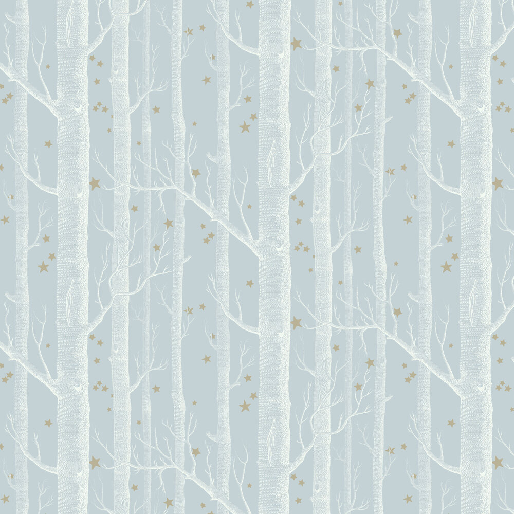 Woods and Stars Wallpaper - Powder Blue - by Cole & Son
