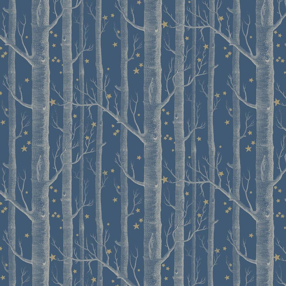 Cole & Son Woods and Stars Midnight Blue Wallpaper - Product code: 103/11052