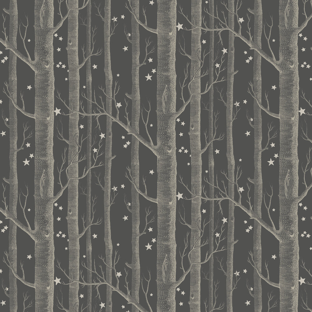 Cole & Son Woods and Stars Charcoal Wallpaper - Product code: 103/11053
