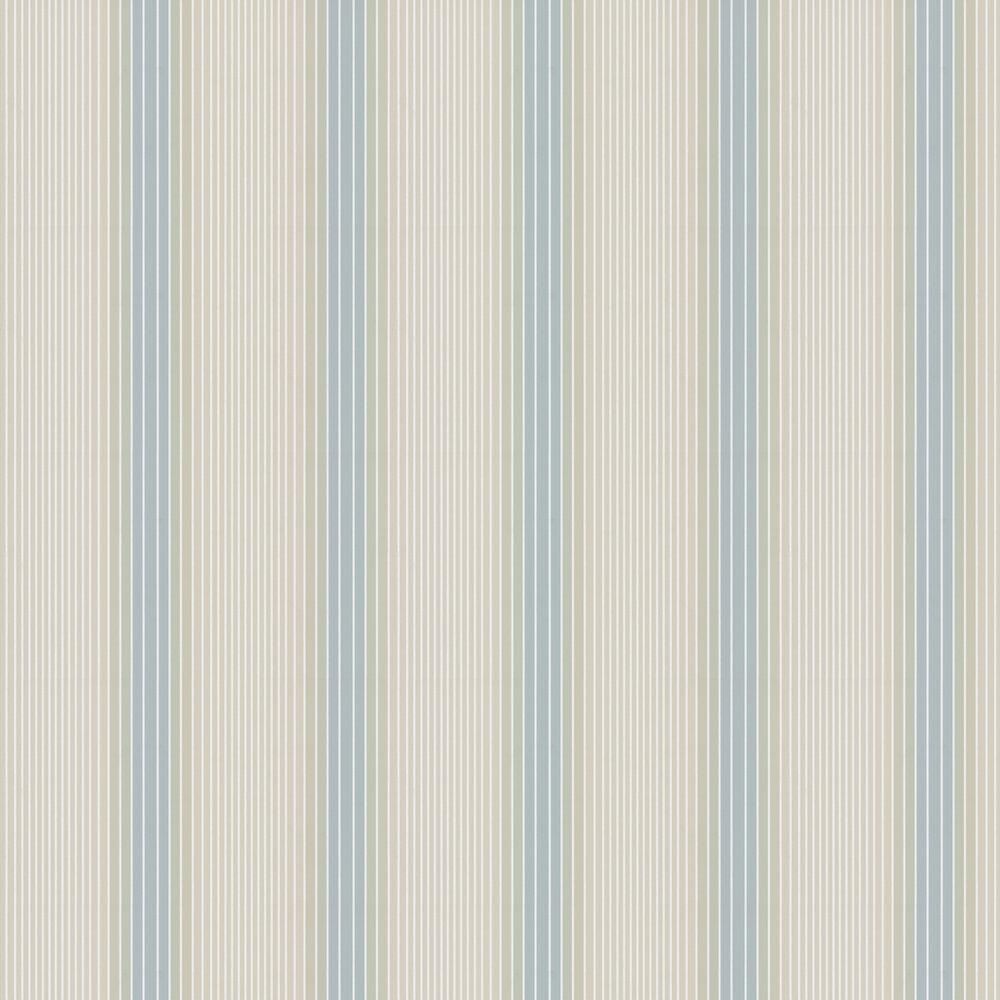 Ombre Stripe Wallpaper - Vista & Seashell - by Little Greene
