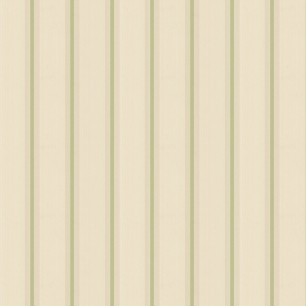 Little Greene Cavendish Stripe Brush Green Wallpaper - Product code: 0286CVBRGRE