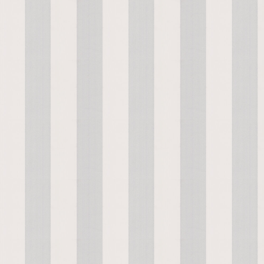 Little Greene Elephant Stripe Bright White Wallpaper - Product code: 0286ESBRIGH