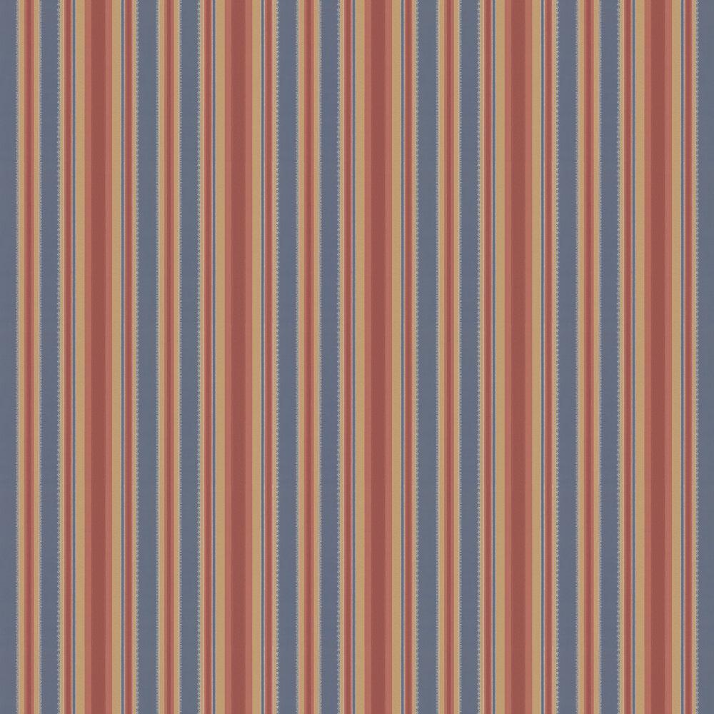 Colonial Stripe Wallpaper - Morocco - by Little Greene