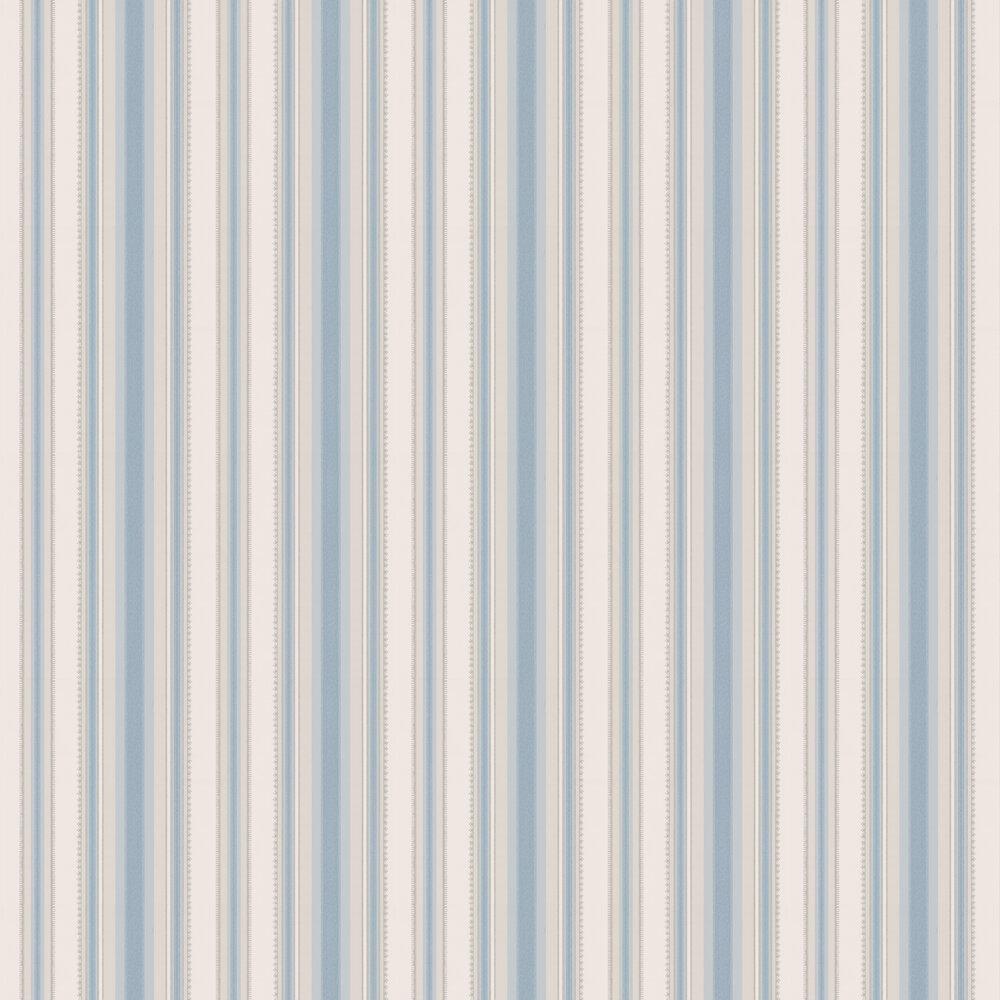 Colonial Stripe Wallpaper - Classic Blue - by Little Greene