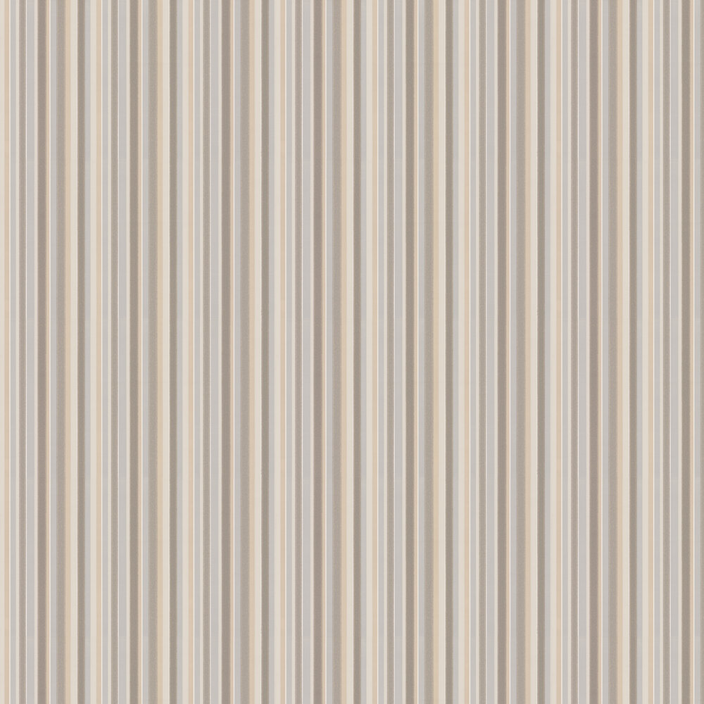 Tailor Stripe Wallpaper - Taupe - by Little Greene