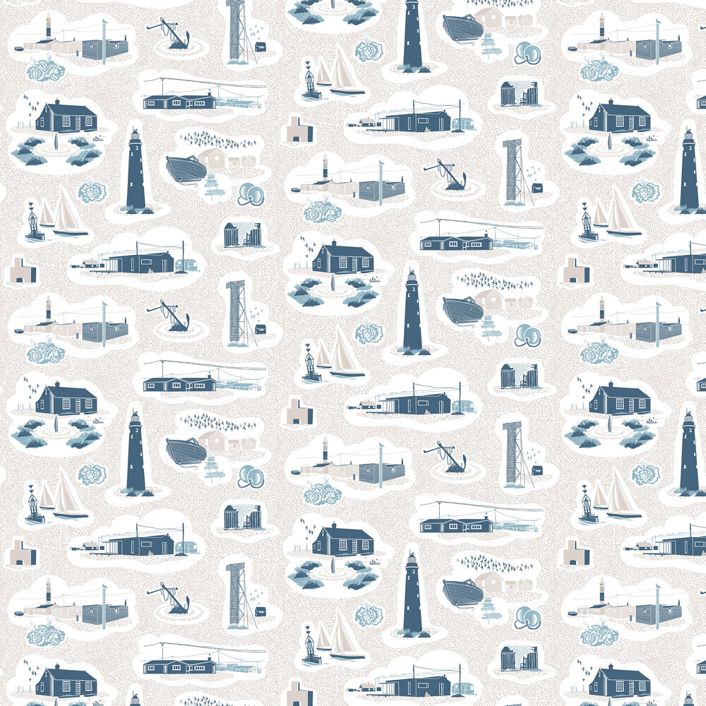 Mini Moderns Dungeness Washed Denim Wallpaper - Product code: AZDPT023WD